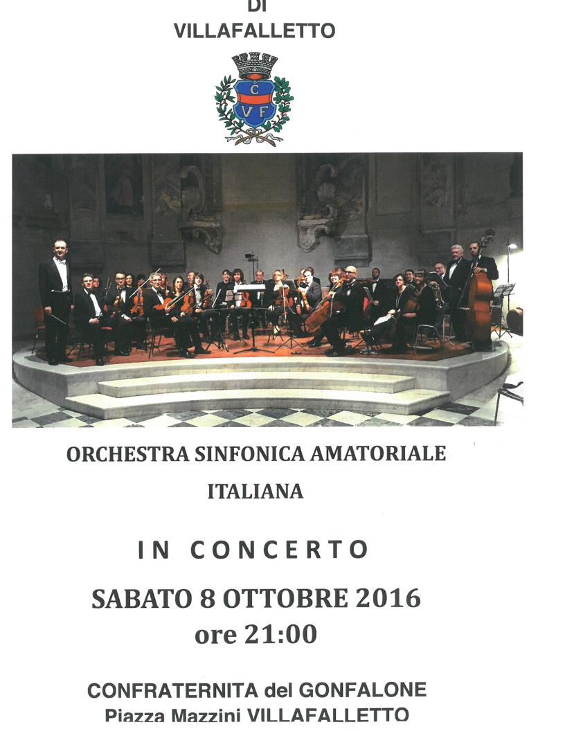 ORCHESTRA SINFONICA AMATORIALE ITALIANA IN CONCERTO A VILLAFALLETTO